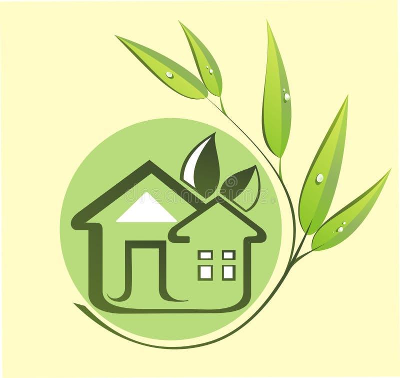 Casa verde do eco ilustração stock