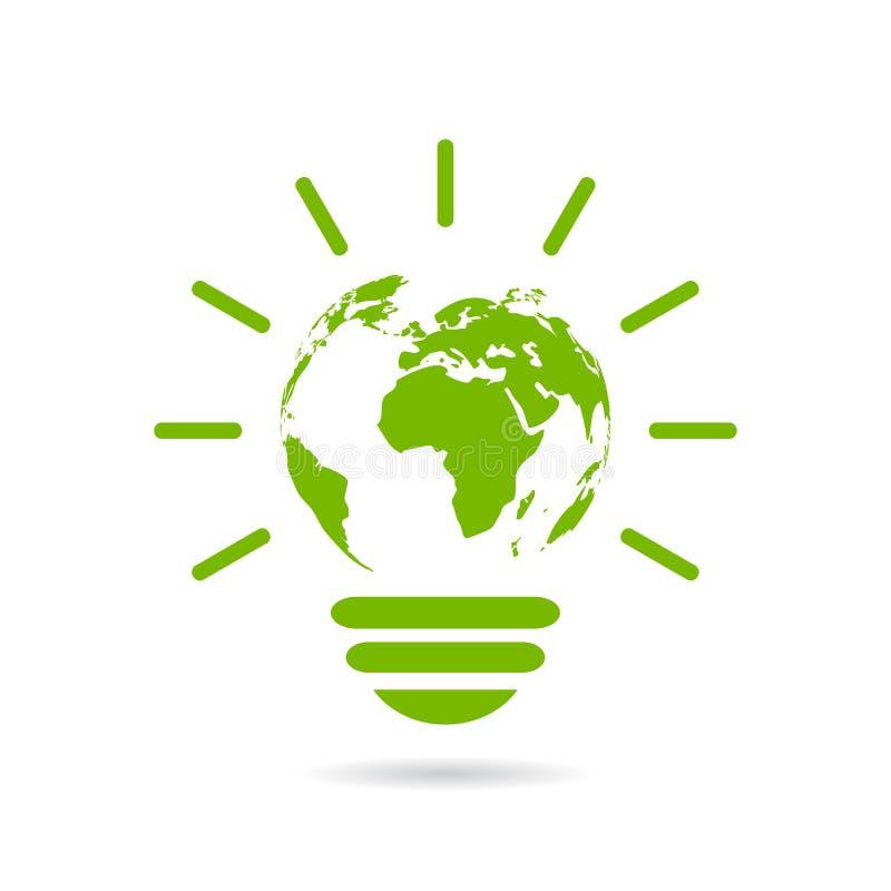 Ícone verde da energia ilustração do vetor