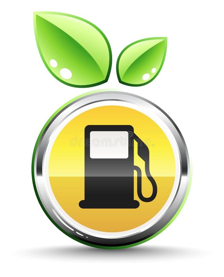 Ícone verde do combustível ilustração royalty free