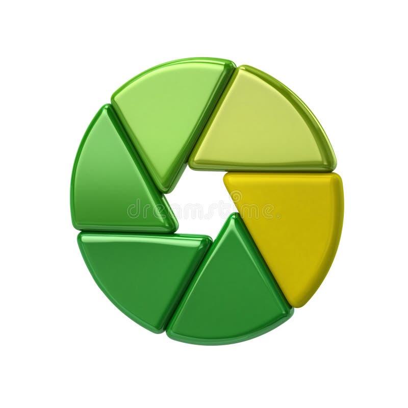 Ícone verde do objetivo do obturador da câmera ilustração do vetor