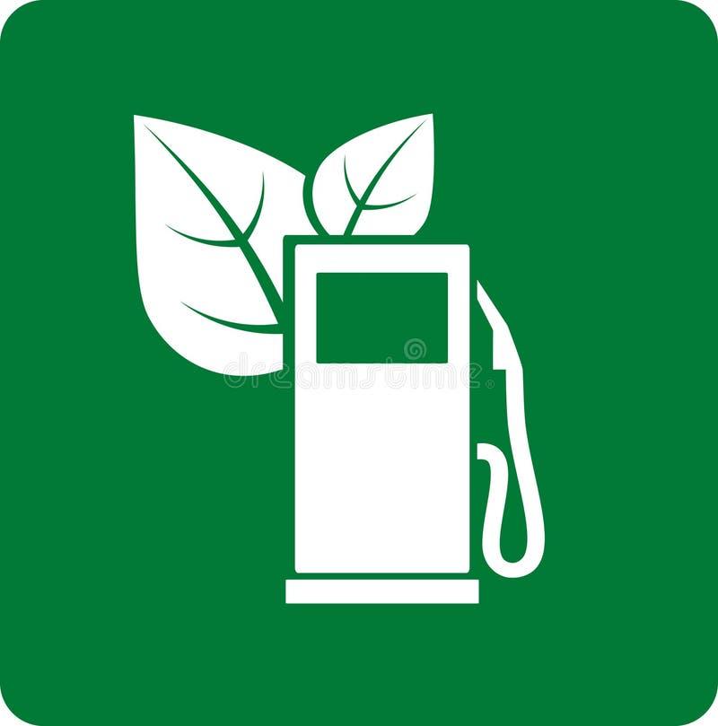 Ícone verde do posto de gasolina ilustração do vetor