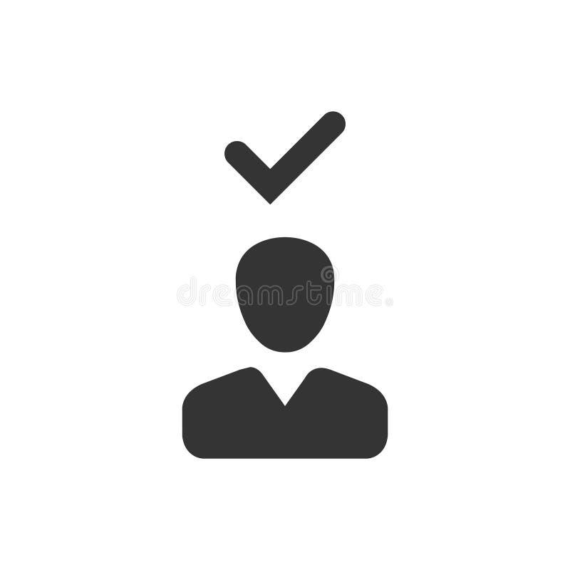 Ícone verificado usuário ilustração royalty free