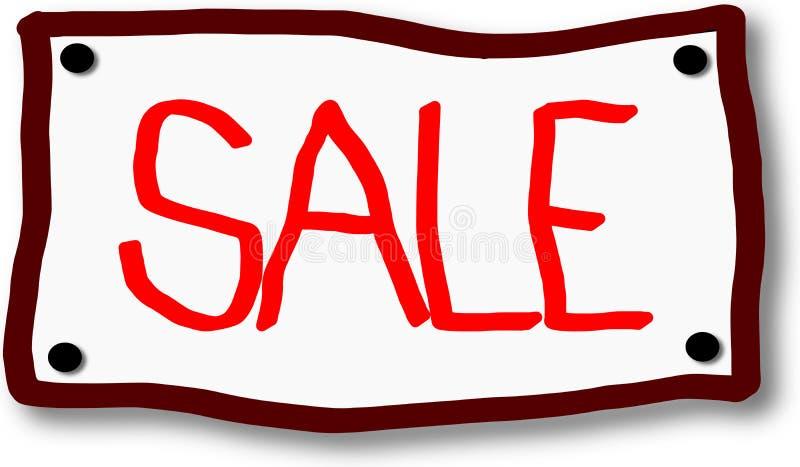 ?cone vermelho da venda no quadro indicador ilustração stock