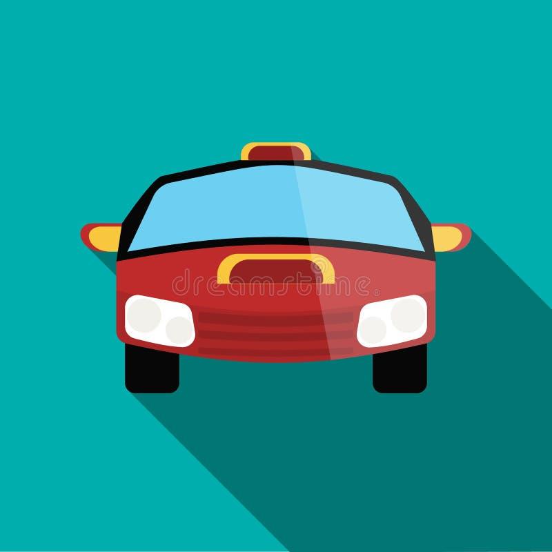 Ícone vermelho do carro de competência no estilo liso ilustração royalty free