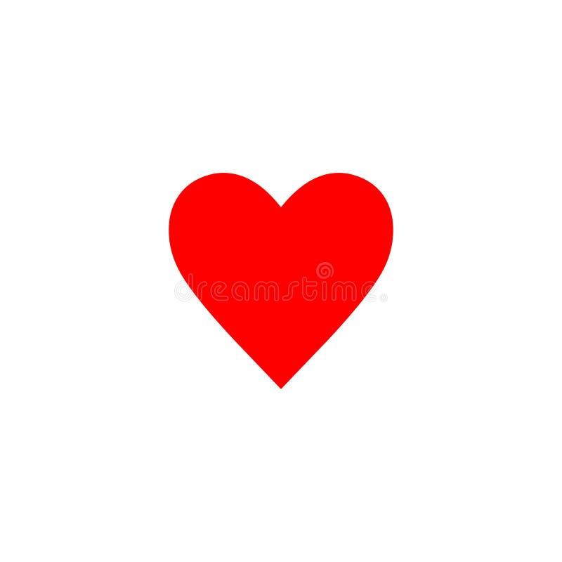 Ícone vermelho do coração ilustração stock