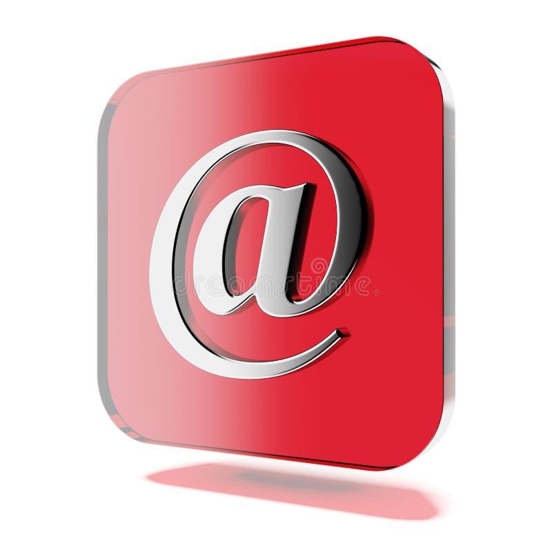 Ícone vermelho do correio ilustração stock