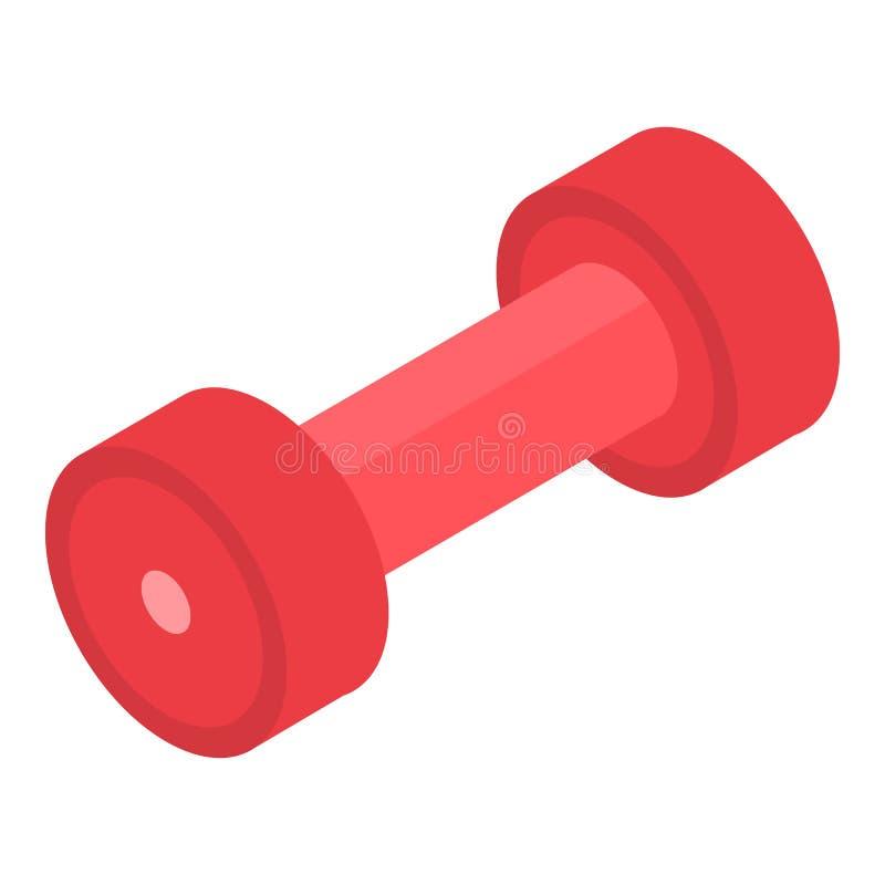 Ícone vermelho do peso, estilo isométrico ilustração stock