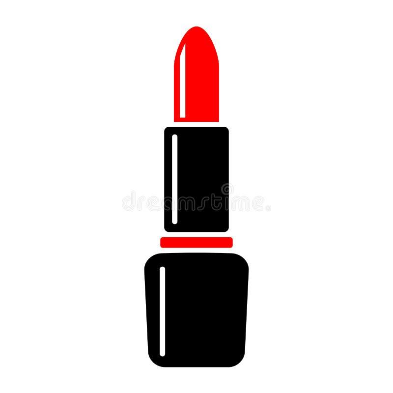 Ícone vermelho do vetor do batom ilustração stock