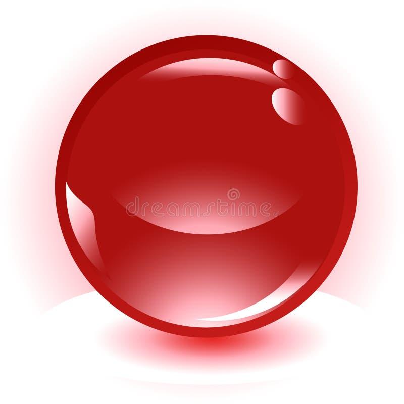Ícone vermelho do vetor da esfera ilustração royalty free
