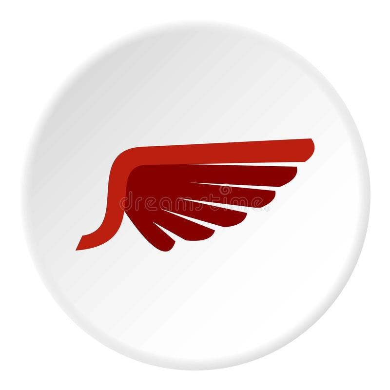 Ícone vermelho dos pássaros da asa, estilo liso ilustração royalty free