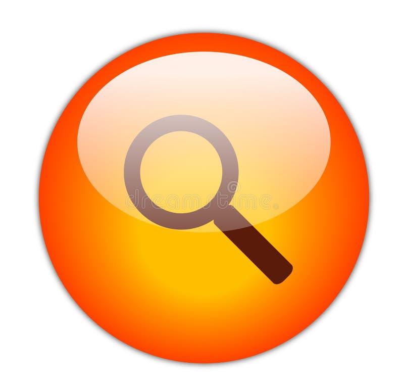 Ícone vermelho Glassy da busca ilustração do vetor