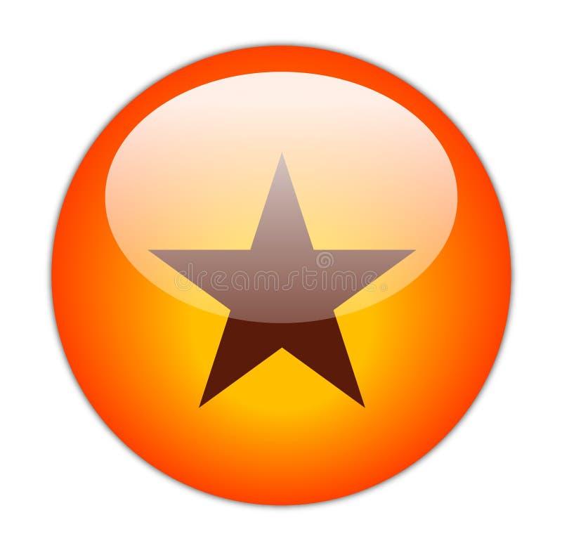 Ícone vermelho Glassy da estrela ilustração royalty free