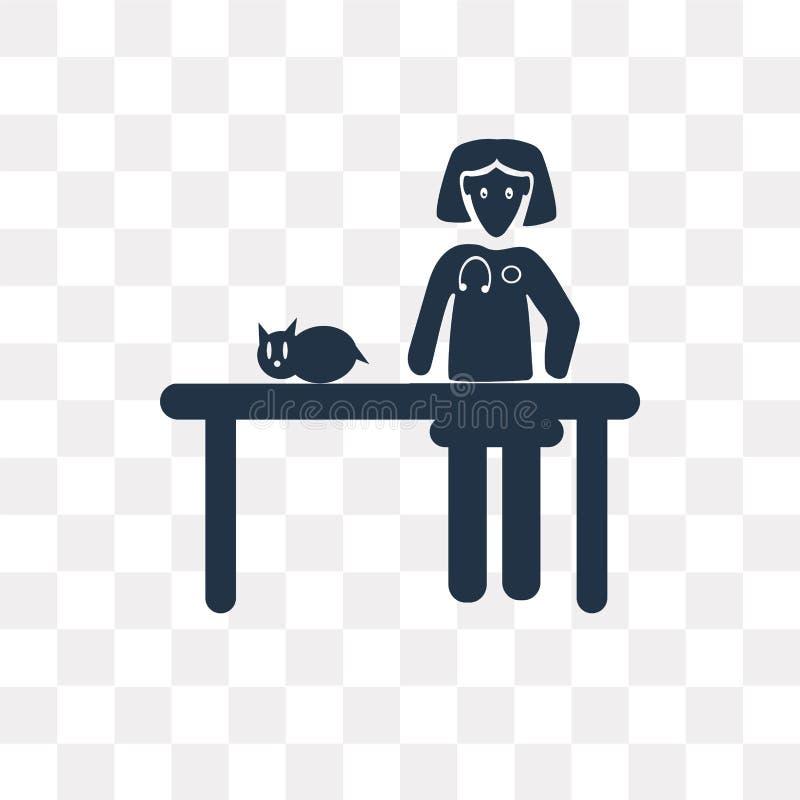 Ícone veterinário do vetor da mulher isolado no backgroun transparente ilustração do vetor