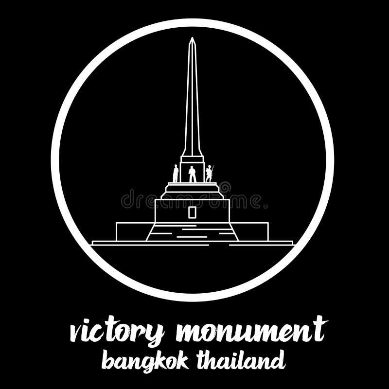 Ícone Victory Monument Tailândia do círculo s?mbolo do sinal Ilustra??o do vetor ilustração stock
