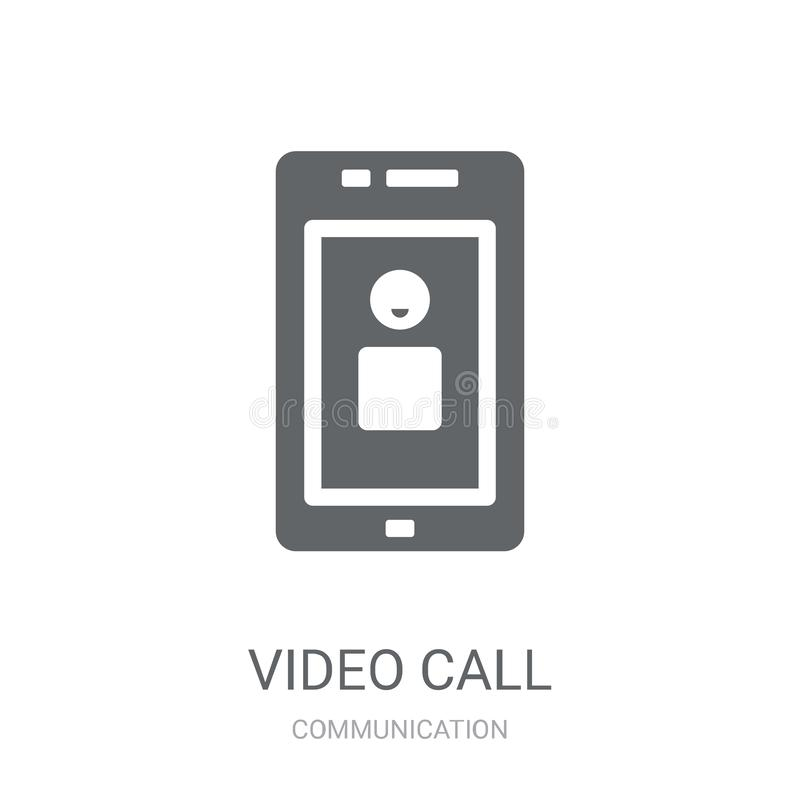Ícone video da chamada  ilustração royalty free