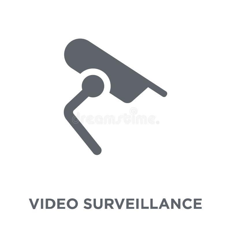 ícone video da fiscalização da coleção dos dispositivos eletrónicos ilustração royalty free