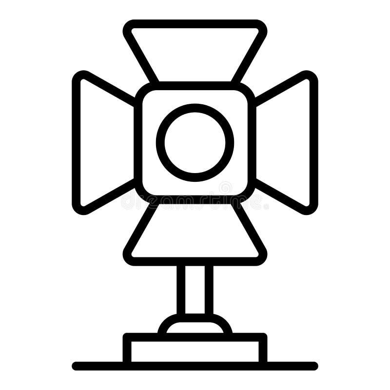 Ícone video da luz do ponto, estilo do esboço ilustração royalty free