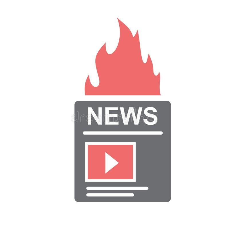 Ícone video do índice do blogue no fundo branco para o gráfico e o design web, sinal simples moderno do vetor Conceito do Interne ilustração do vetor