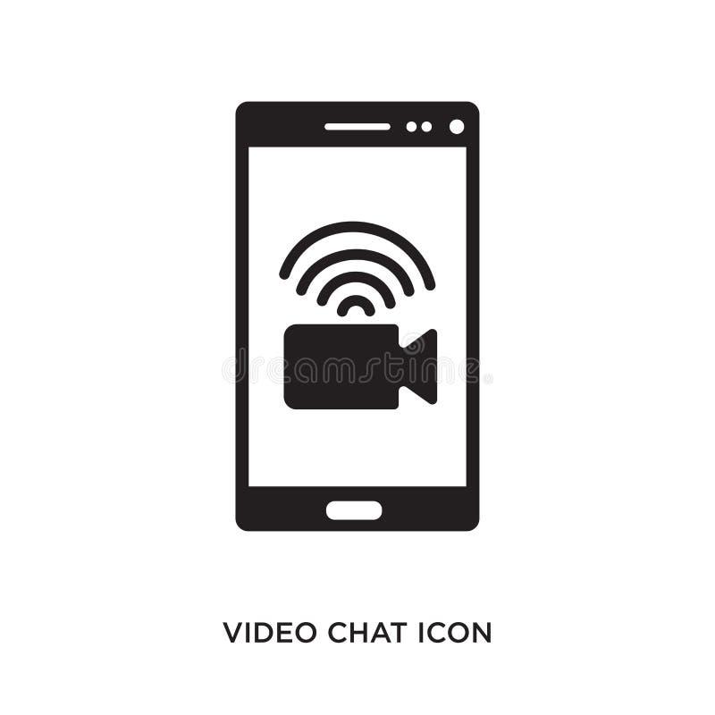 Ícone video do bate-papo ilustração stock