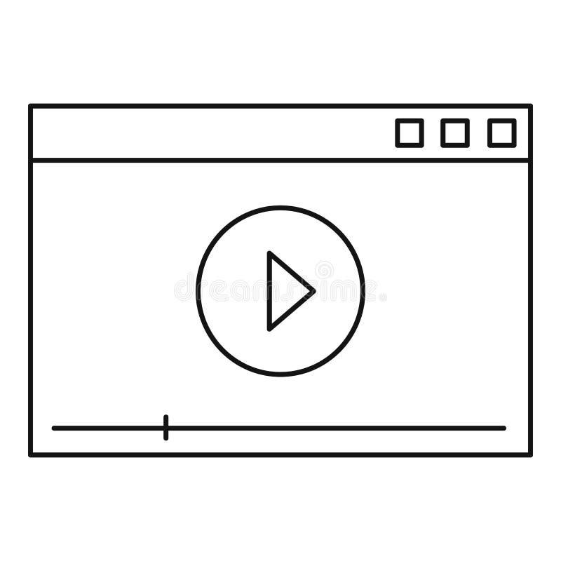Ícone video do jogo, estilo do esboço ilustração stock