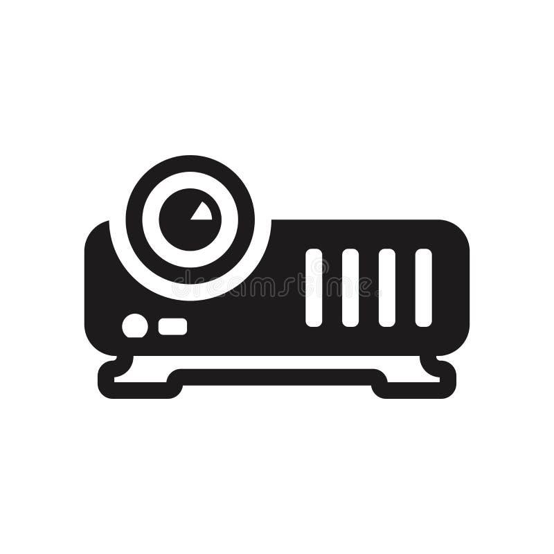 Ícone video do projetor  ilustração do vetor