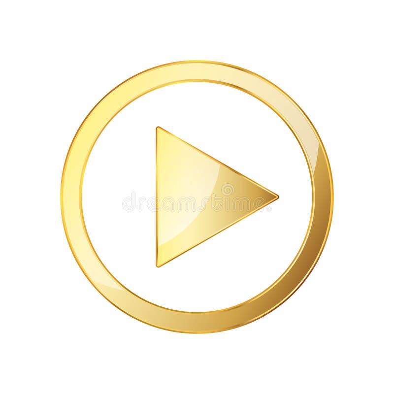 Ícone video dourado do jogo Ilustração do vetor ilustração do vetor