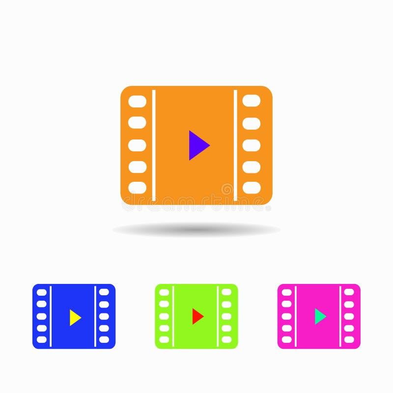 Ícone video Isolado no fundo branco ilustração do vetor
