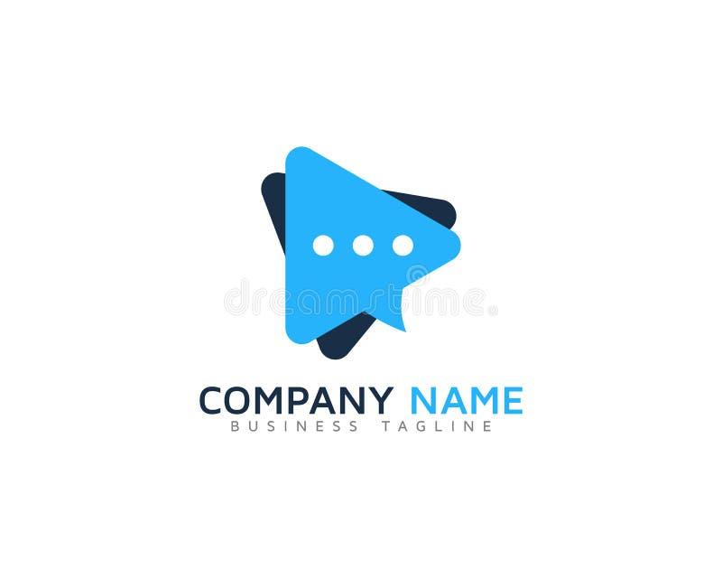 Ícone video Logo Design Element ilustração stock