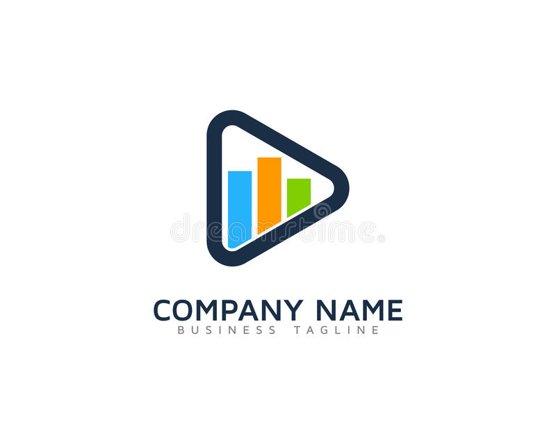 Ícone video Logo Design Element ilustração do vetor