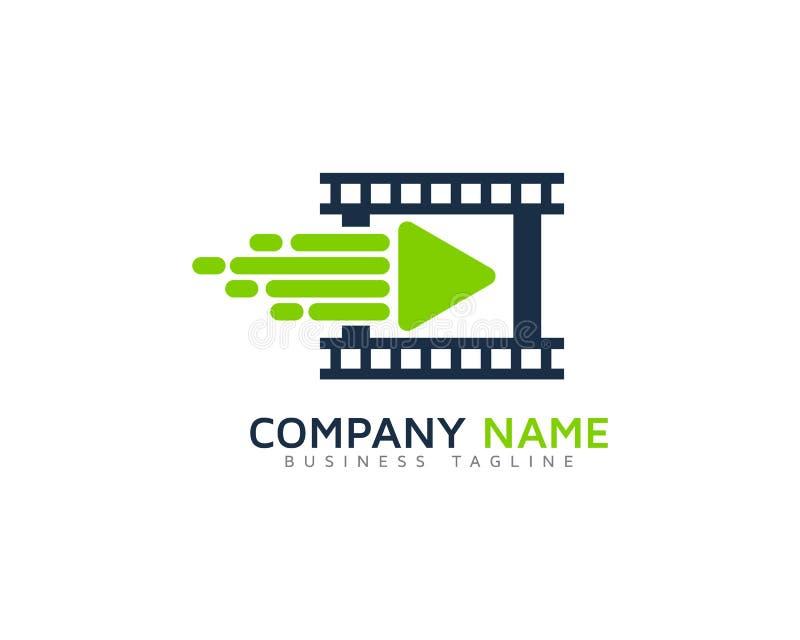 Ícone video rápido Logo Design Element da velocidade ilustração stock