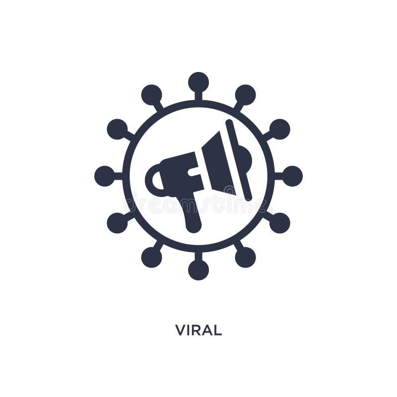 ícone viral no fundo branco Ilustração simples do elemento do conceito de mercado ilustração royalty free