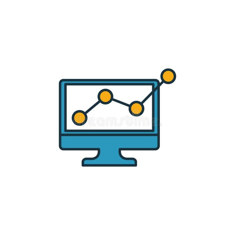 ícone Web Analytics Descrever o elemento criativo preenchido da coleção de ícones publicitários Ícone de análise Web Premium para ilustração do vetor