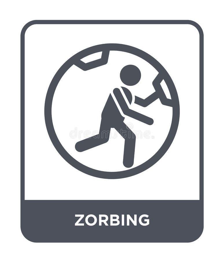 ícone zorbing no estilo na moda do projeto ícone zorbing isolado no fundo branco símbolo liso simples e moderno do ícone zorbing  ilustração do vetor