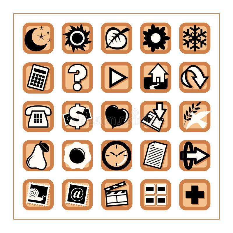 Ícones úteis 1 - versão 2 ilustração stock