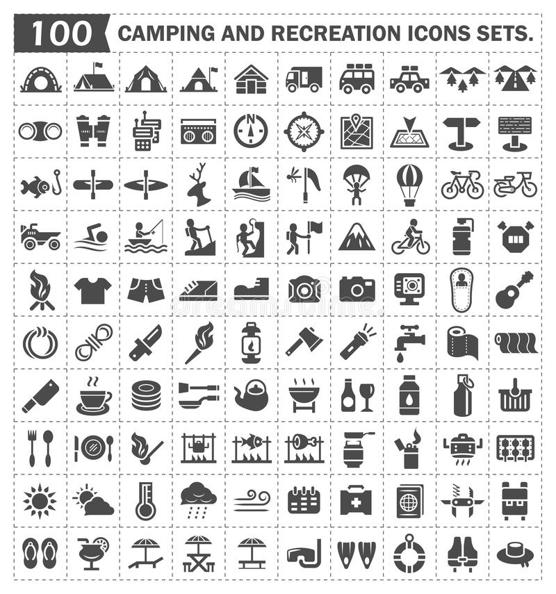 Ícones ilustração stock