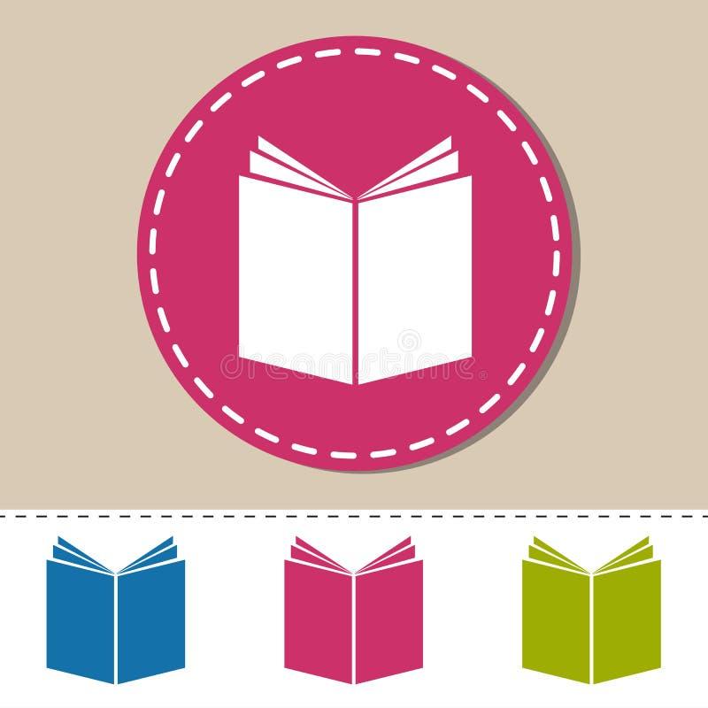 Ícones abertos do livro - vetor colorido ajustado - isolados no branco ilustração royalty free