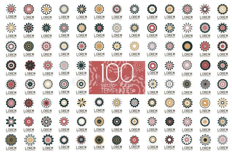 Ícones abstratos geométricos da identidade de marca ilustração do vetor