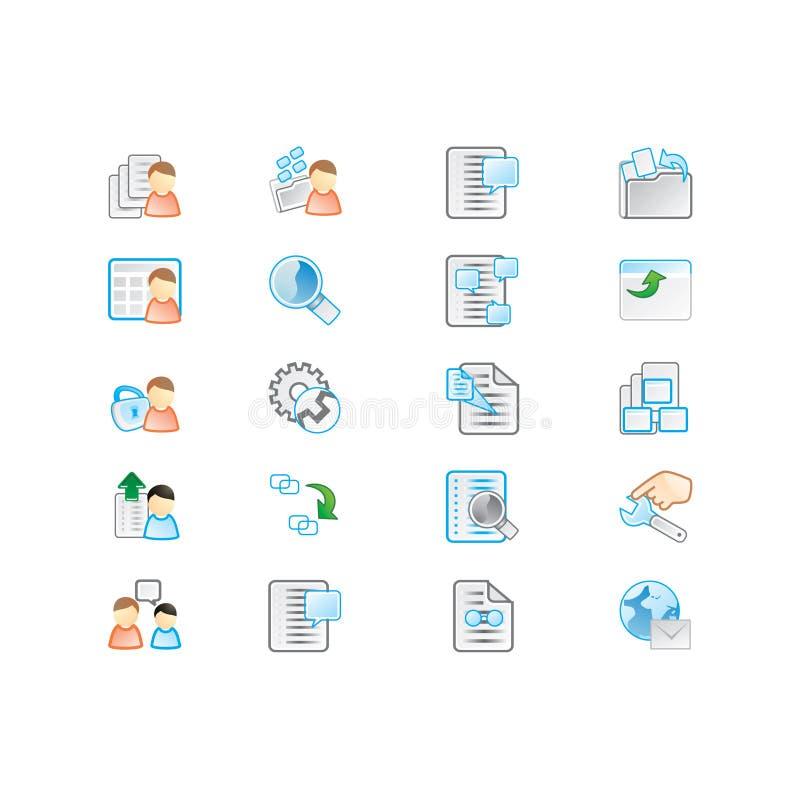 Ícones ajustados ilustração do vetor