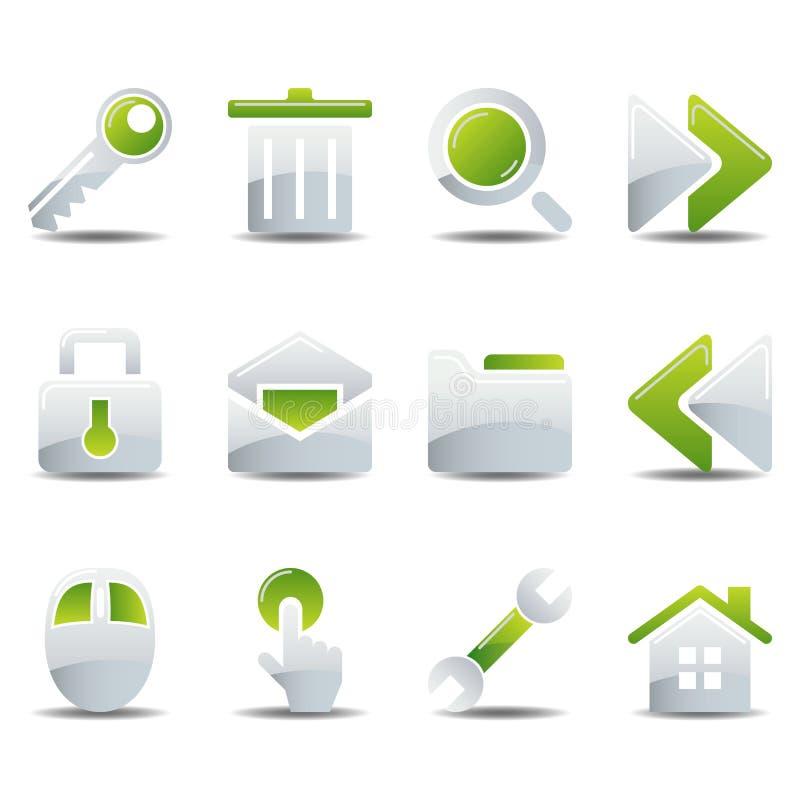 Ícones ajustados ilustração stock