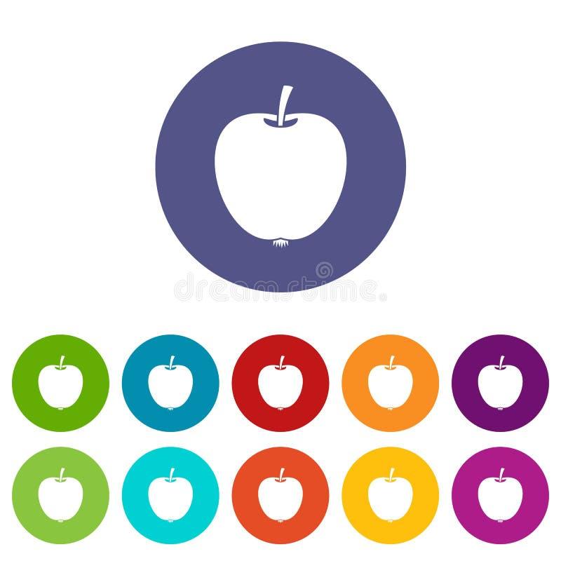 Ícones ajustados de Apple ilustração do vetor