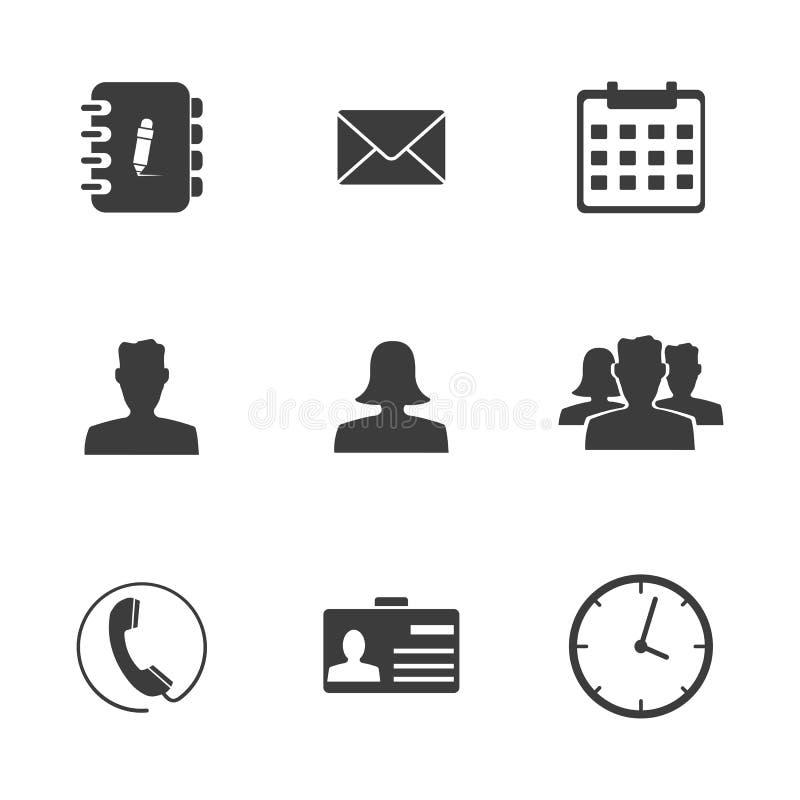Ícones ajustados do escritório ilustração do vetor