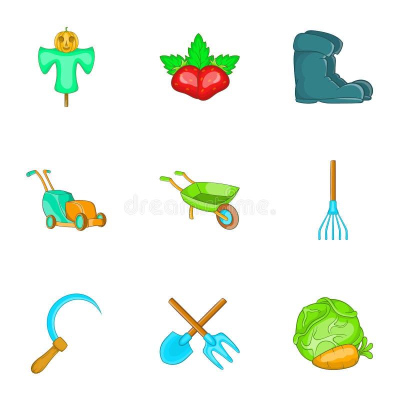 Download Ícones Ajustados, Estilo Da Agricultura Dos Desenhos Animados Ilustração do Vetor - Ilustração de campo, pitchfork: 80101753