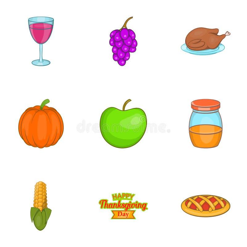 Download Ícones Ajustados, Estilo Da Celebração Da Gratitude Dos Desenhos Animados Ilustração do Vetor - Ilustração de partido, invitation: 80101183