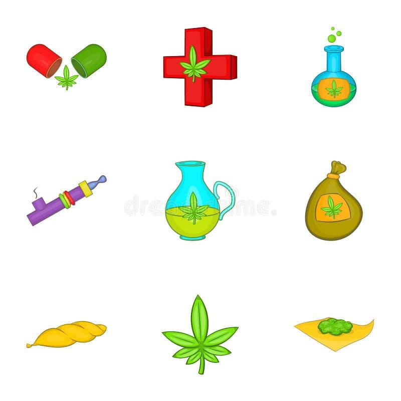 Download Ícones Ajustados, Estilo Da Droga Dos Desenhos Animados Ilustração do Vetor - Ilustração de ilegal, médico: 80102222