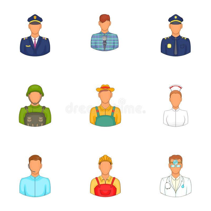 Download Ícones Ajustados, Estilo Da Especialidade Dos Desenhos Animados Ilustração do Vetor - Ilustração de moderno, ilustração: 80100932