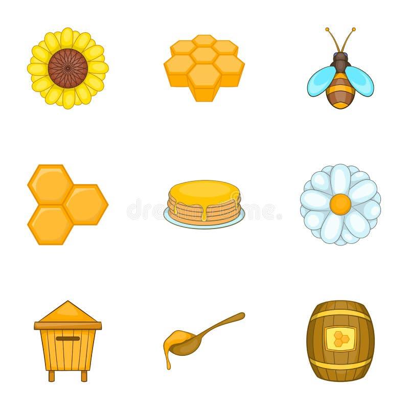 Download Ícones Ajustados, Estilo Da Exploração Agrícola Da Apicultura Dos Desenhos Animados Ilustração do Vetor - Ilustração de líquido, beekeeping: 80101270