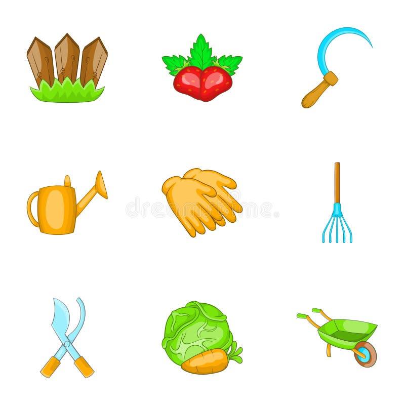 Download Ícones Ajustados, Estilo Da Exploração Agrícola Dos Desenhos Animados Ilustração do Vetor - Ilustração de alimento, arte: 80100481