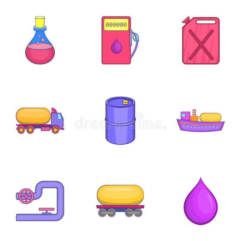 Download Ícones Ajustados, Estilo Da Gasolina Dos Desenhos Animados Ilustração do Vetor - Ilustração de ecology, equipamento: 80100831