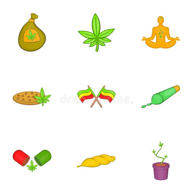 Download Ícones Ajustados, Estilo Da Marijuana Dos Desenhos Animados Ilustração do Vetor - Ilustração de hallucination, imagem: 80101096