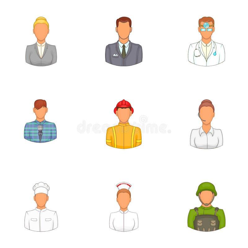 Download Ícones Ajustados, Estilo Da Profissão Dos Desenhos Animados Ilustração do Vetor - Ilustração de inspiração, imagem: 80101012
